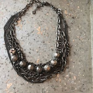 Vera Wang Multi-Chain and Jewel Necklace